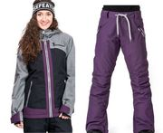 женски комплект яке+панталон за сноубоборд  HORSEFEATHERS