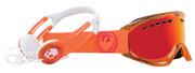 Dragon DX Skullcandy Orange/ Red Ion + Amber Lens