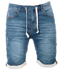 WAXX MEN JOGGJEAN SHORT WASHED BLUE