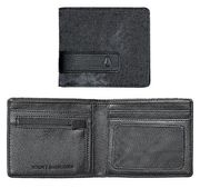NIXON Showdown Bi-Fold Zip Wallet black denim