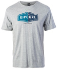 RIP CURL LOSANGE LOGO TEE cement marle