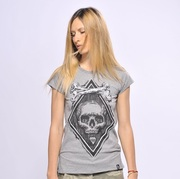 SNAKE LEGEND Skull With Roses T-shirt