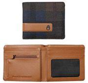 NIXON Showdown Bi-Fold Zip Wallet plaid