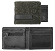 NIXON Showtime Bi-Fold ID Zip Wallet palm