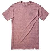 NIXON Escher S/S Tee burgundy heather
