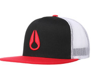 NIXON DEEP DOWN TRUCKER HAT BLACK RED