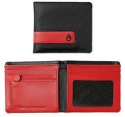 NIXON Showdown Bi-Fold Zip Wallet black red