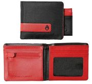 NIXON Showtime Bi-Fold ID Zip Wallet black red