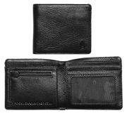 NIXON CAPE LEATHER COIN WALLET BLACK