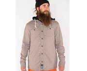 ARMADA READING FLANNEL HOODIE GRANITE
