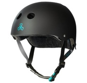 Triple eight Certified Pro Model Tony Hawk Helmet black rubber