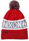 Nixon TEAMSTER BEANIE red gray