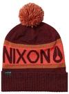 Nixon TEAMSTER BEANIE burgundy fire