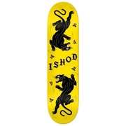 Real Ishod Cat-Scratch 8.00 Skateboard Deck Yellow / Black