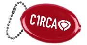 Circa Din icon coin holder red