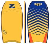 Sniper SNIPER Bodyboard Vyrus PE 42 Chevron Yellow